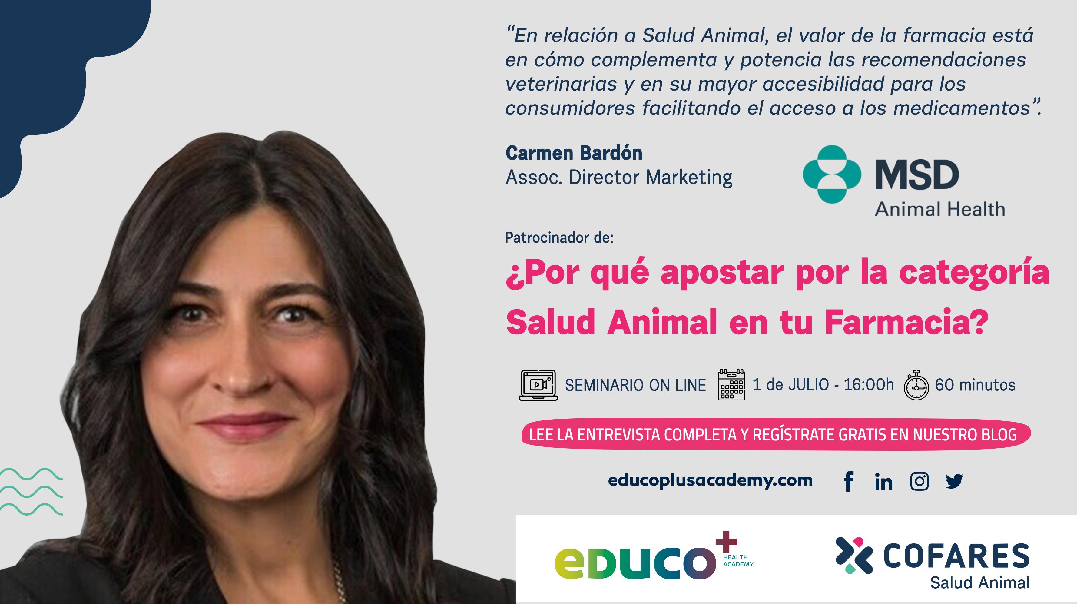 Un café con Carmen Bardón, Directora de Marketing de MSD Animal Health.
